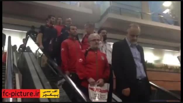 بازگشت ملی پوشان به ایران