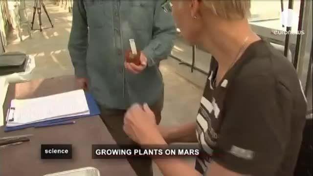 رویش گیاهان کره زمین در مریخ ... !!! .. :/