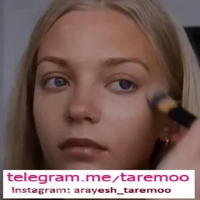 میکاپ زیبای چهره دخترانه در تار مو