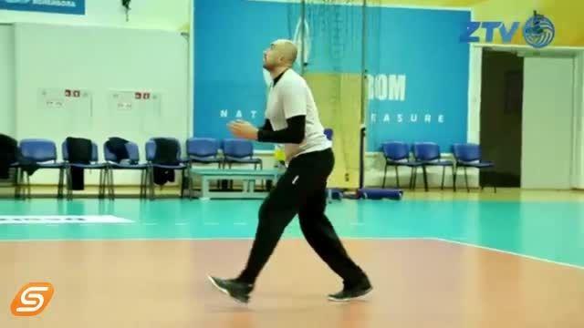 تمرین سعید معروف در زنیت کازان