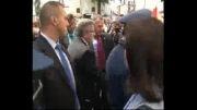 حمله تخم مرغی به رئیس جمهور