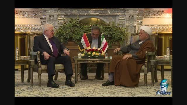 دیدار رئیس جمهور عراق با آیت الله هاشمی رفسنجانی