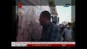فیلم ورود ضریح امام حسین از مرز  ایران به کشور عراق