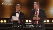 حرفهای احساسی زلاتان پس از گرفتن جایزه بازیکن سال سوئد