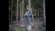 استفاده از دوچرخه به عنوان بالابر یک خانه درختی