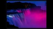 تصاویر فوق العاده زیبا از نورپردازی آبشار نیاگارا ...!