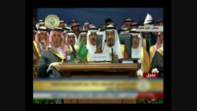 حرکات عجیب وزیر خارجه رژیم سعودی در شرم الشیخ مصر