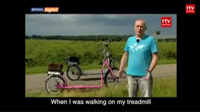 با این دوچرخه عجیب، پیاده روی کنید!