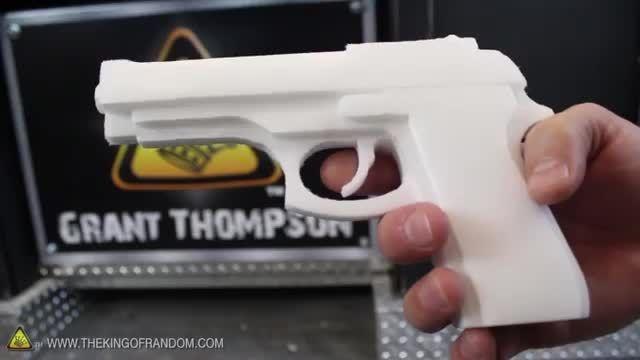چاپ سه بعدی اسلحه به وسیله ی پرینتر سه بعدی