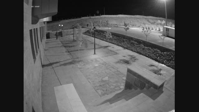 قابلیت دید در شب دوربین آلبا در محیط خارج ساختمان