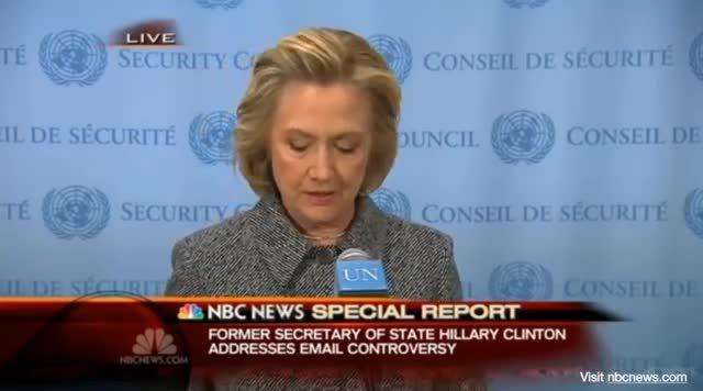 کنفرانس خبری هیلاری کلینتون درباره حذف ایمیل ها