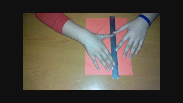 اوریگامی، آموزش ساخت قورباغه توسط دانش آموز پویا امانی