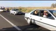 تصادف موتور با کامیون و مرک موتور سواران