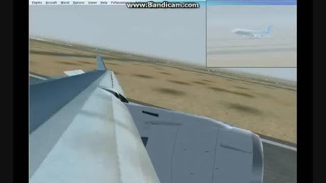 فرود زیبای هواپیما در فرودگاه مشهد