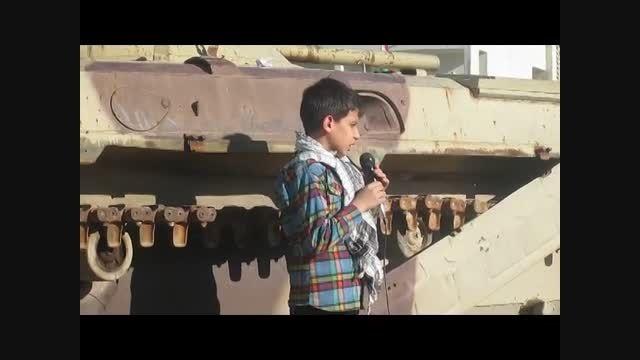 مداحی و سخنرانی وحید کوماری در مناطق عملیاتی جنوب کشور