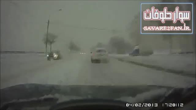 ناپدید شدن ناگهانی اتومبیل در جاده!