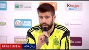 مصاحبه بازیکنان و کادر فنی اسپانیا پس از جام ملت ها