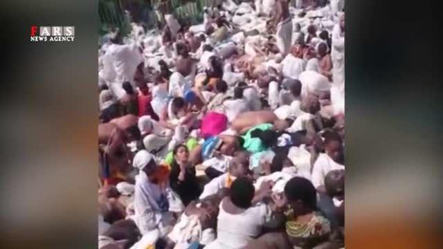 تمام تصاویر دردناک حادثه منا و اجساد تلمبار شده روی هم