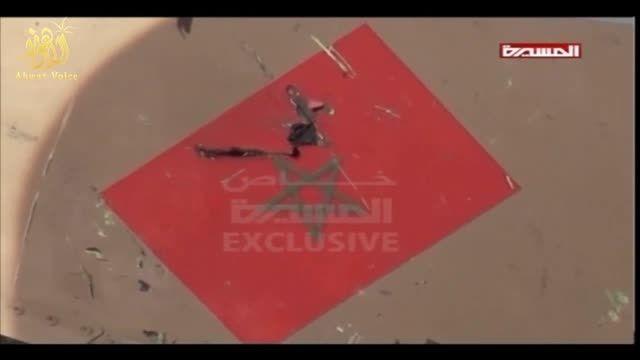 سرنگونی جنگنده F16 مغربی توسط انصارالله در یمن