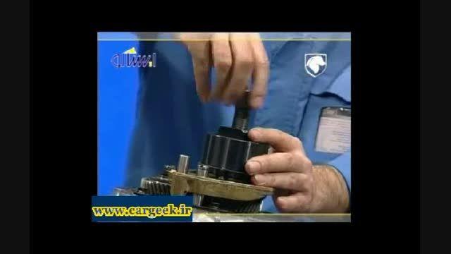 باز کردن و تشریح اجزای گیربکس BE3 (پارس،405،سمند،دنا)