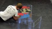 نقاشی سه بعدی  خیابانی از سوپرماریو!