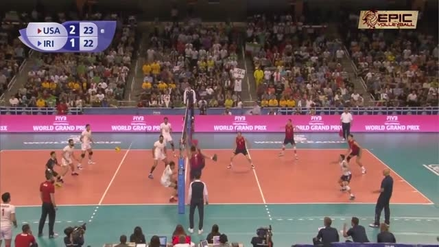 دفاع دیدنی تیلور ساندر مقابل ایران (والیبالیست آمریکا)