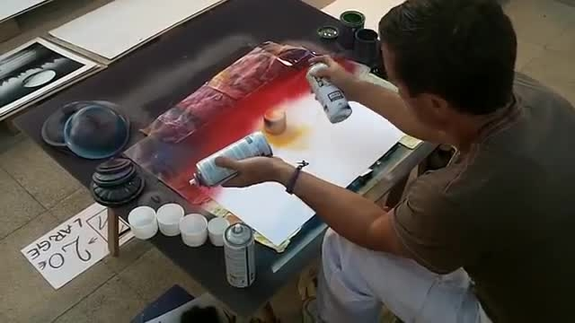 شگفت انگیز هنرمند خیابانی،نقاشی تصاویر حد 3D