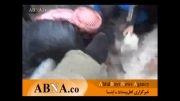نجات یک کودک فلسطینی از زیر آوار از تهاجم صهیونیست ها