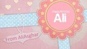 کارت تبریک تولد علی خلیلی فر!
