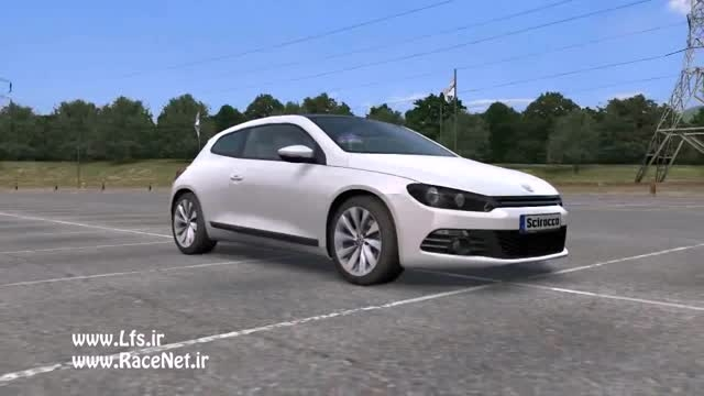 VW Scirocco اولین خودروی شهری کاملاشبیه سازی شده در Lfs