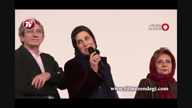 معتمدآریا و همسرش چشم ها را خیره کردند/جشنواره فیلم فجر
