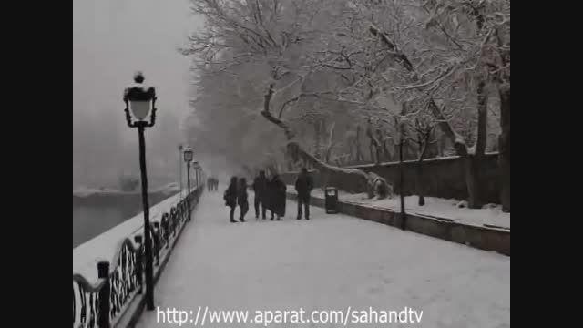 برف زمستانی بهمن ماه 93 در شهر تبریز tabriz winter 2015