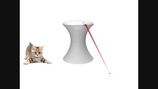 اسباب بازی لیزر اتوماتیک مخصوص سگ و گربه