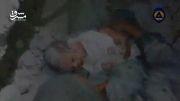 نجات کودک فلسطینی از زیر آوار