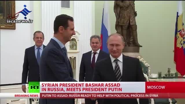دقایقی قبل بشار اسد وارد روسیه شد