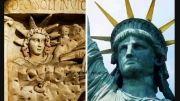 تاج ایزد مهر ( میترا) بر سر مجسمه آزادی