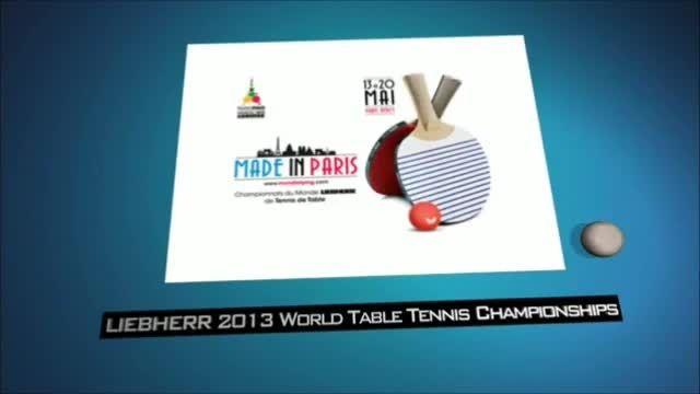 دختر ها و مردان پینگ پنگ جهان قبل شروع مسابقات پاریس