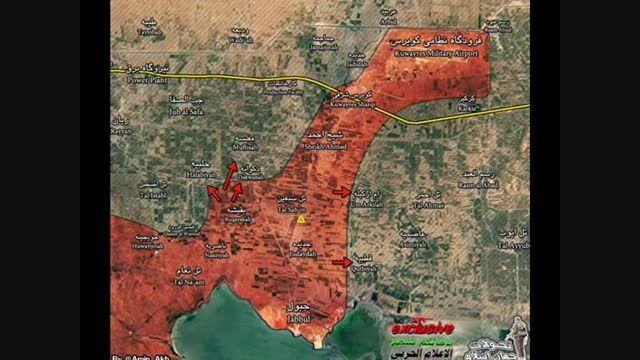 ارتش سوریه و حزب الله وارد فرودگاه نظامی کویرس حلب شدند