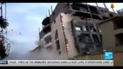 ریزش ساختمان چند طبقه