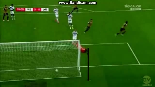 آرسنال 6 - 0 لیون - برد پر گل توپچی ها - گل های بازی