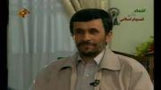 جواب احمدی نژاد مجری را به خنده وا داشت.....