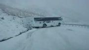 لیز خوردن اتوبوس مسافربری
