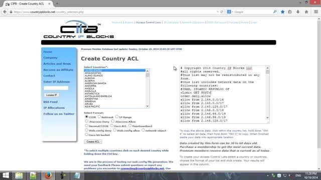 آموزش بلاک کردن IP کشورهای دیگر در وب سایت