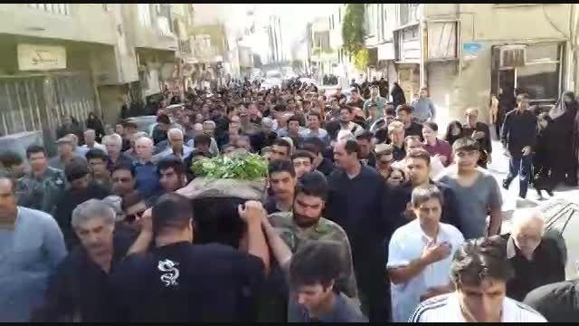 تشییع جنازه جوان بسیجی شهید محمد حسن نیازی