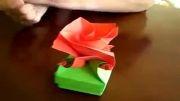 آموزش جعبه کادو اریگامی به شکل گل