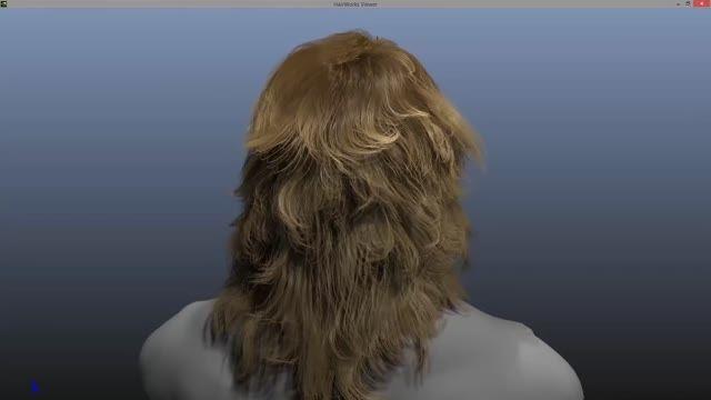 شبیه سازی موی انسان با 500 هزار تار مو
