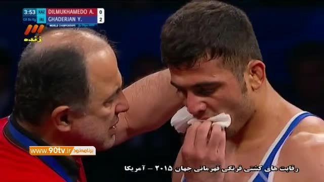 پیروزی قادریان مقابل قزاقستان (کسب مدال برنز ۸۰کیلوگرم)