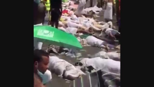 فیلم فوت حاجیان بیت الله تحت فشار جمعیت زیاد در منا