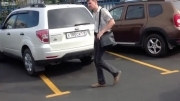 وضعیت پارک کردن ماشین در پارکینگ خارج