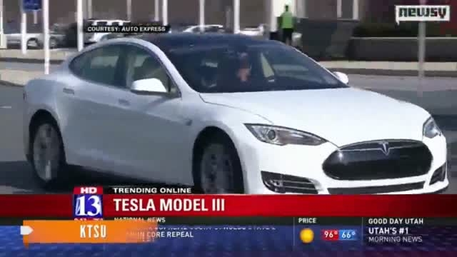 خودرو تسلا مدل 3 در سال  2017 عرضه خواهد شد